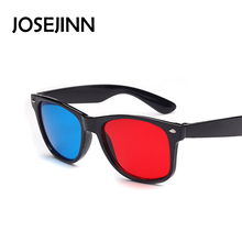 Universal 3D goggle Glasses Red Blue Cyan Black Frame Movie TV/Computer Game DVD Vision/Cinema Anaglyphic 3D Plastic Glasses(China)