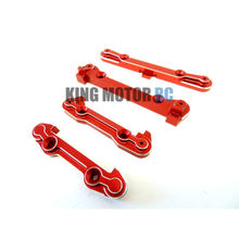 King Motor X2 CNC Aluminum Hinge Pin Braces (red) (4) Fits LOSI 5IVE T Rovan LT(China)
