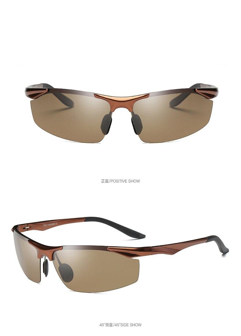 High Quality Polarized Sunglasses Men's Brand Designer Sports Glasses Windproof Sunglasses Aluminum Magnesium Frame Goggles