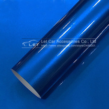 Car styling Blue Glossy Metallic Glitter Car Sticker for car wraps Glossy Candy Vinyl Film(China)