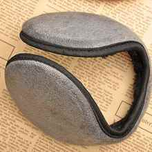 Black Fleece Earmuff Winter Ear Muff Wrap Band Warmer Grip Earlap Gift Men Women Black Coffee Blue Grey Color