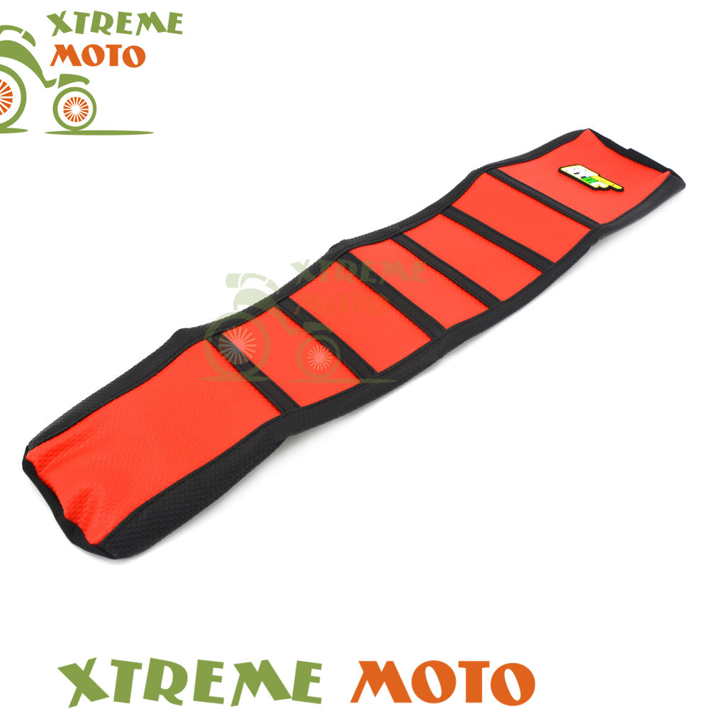 Red Motorcycle Rubber Vinyl Gripper Soft Seat Cover For Honda CR 125 250 CR125 CR250 97 98 99 Motocross Dirt Bike<br>