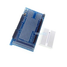 Brand New Prototype Shield Protoshield V3 Expansion Board with Mini Bread Board for Arduino MEGA + White breadboard