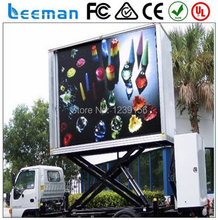 Leeman Video Function Outdoor Waterproof Full Color P10mm LED Mobile Advertising Vehicle railer/LED Video Billboard Vehicle