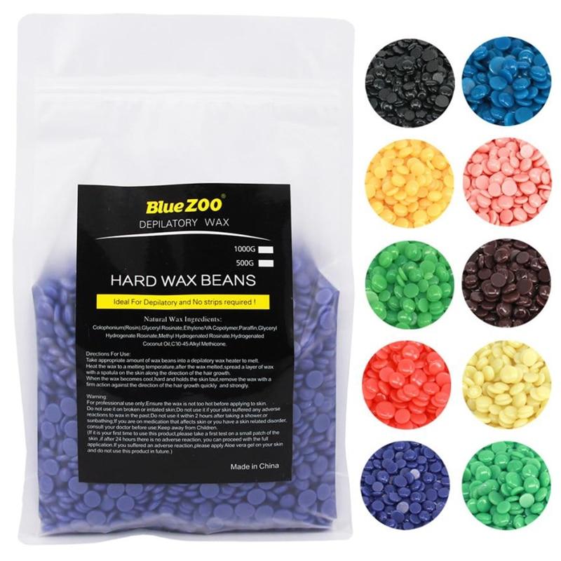 BlueZoo Hard Wax Beans 1000g No Strip Depilatory Hot Film Hard Wax Pellet Waxing Bikini Hair Removal Bean Hair Removal Cream <br>