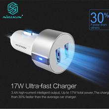 Original Nillkin 5V 3.4A 2 Port USB Car Charger for iPhone X 10 6 6s 7 8 plus for Samsung Galaxy Note8 s8+ s7 edge smart phone(China)