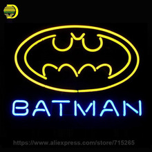 "NEON SIGN For NEW BATMAN SUPERHERO COMIC Signboard REAL GLASS BEER BAR PUB display RESTAURANT outdoor Light Signs 17*14"" VD"