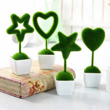 4pcs/set Artificial grass Love Heart Star Turf small cute animals toy decorations animal grass land Reduce the eye fatigue decor(China)
