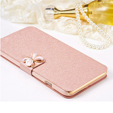 Luxury Fashion Butterfly Silk Pattern Flip PU Leather Phone Case Cover for HTC Wildfire S G13 A510e With Card Holder Design