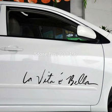 Funny Sticker Life Is So Beautiful La Vie Est Si Belle Car Sticker Auto Decal Car Accessories for Tesla Bentley Jaguar Volvo