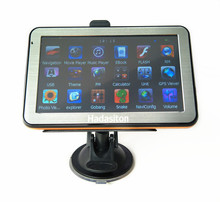 "Shipping by express,Wholesale 5"" Touch Screen Car GPS Navigator 128M/4GB+FM Transmitter+Free latest maps,10pcs/lot"
