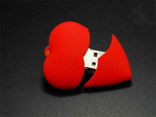 Red heart wedding gift USB flash drive2.0 usb flash drives thumb u disk usb creativo memory stick 4GB 8GB 16GB 32GB 64GB S899(China)