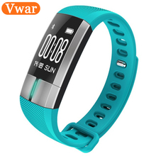 Buy 2017 New Vwar ECG Monitoring Smart Band Fitness Activity Tracker Blood Pressure Wristband Pulsometro PK id107 Xiomi mi band 2 for $35.77 in AliExpress store