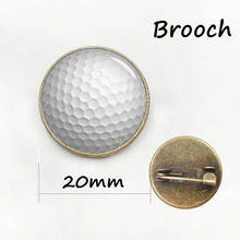Wholesale Charm sport Basketball Art Picture pin football rugby volleyball golf Bowling Ball brooch competition badges gift