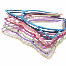 10pcs Mix 10 Colors Cat Kitty Ears Headband Metal Fabric Cute Fashion Hair Accessories Headwear Party