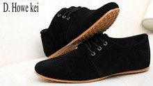 D. Howe kei Plus size 38-46 2016 mens casual shoes Breathable brand walking s men shoes suede leather shoes for men Oxford Shoes(China)
