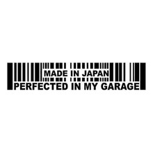 15.2CMX3CM Made In Japan Perfected in My Garage JDM Decal Car Sticker Black Silver C1-2030