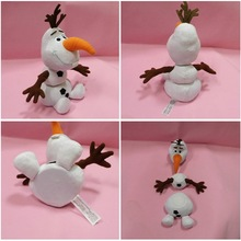 Disney Frozen Toys 25cm Olaf Plush Toys Movie And TV Dolls Soft Stuffed Animals Snowman Olaf Doll Birthday Gift For Children