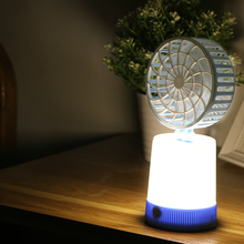 2017 Universal Portable Rechargeable LED Fan air Cooler Mini Operated Desk USB Fan for PC Laptop Computer night light fan