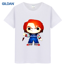 Black Caveira Skull American Horror Movie Bride Of Chucky 2017 Basic T-Shirt Hop Vintage T Shirt Custom Tee Shirt(China)