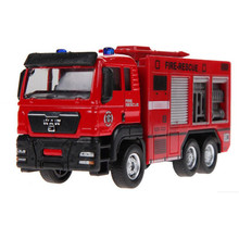 2017 New Arrive 1PC 1:55 Sliding Alloy Car Truck Model Children Toys Fire Engine for Baby Chirstmas Birthday Gift MU885970(China)