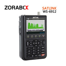 [Genuine]satellite finder satlink ws-6912 signal search meter 6912 3.5 Inch High definition TFT LCD Screen DVB-S2 finder(China)