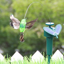 3pcs! Lifelike solar hummingbird Manufacturers hummingbird solar rotational movement birds for Garden decoration