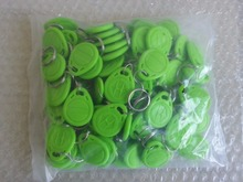 RFID Tag Proximity ID Token Tags Key Keyfobs 125Khz Card Chip ID for door Access Control Time Attendance Green Color