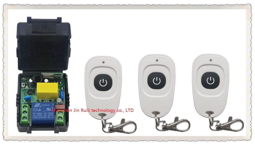 latest AC220V 1CH Wireless Remote Control Switch System Receiver &amp;3pcs one-button white waterproof Remote 315mhz/433mhz<br><br>Aliexpress