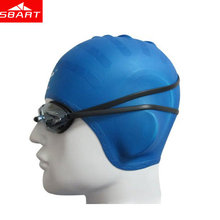 2017 High Quality Silicone Swimming Cap Unisex Waterproof Ear Swimming Caps For Long Hair Diving Hat Adult Silicone Swimming Cap(China)