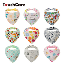 Buy Touchcare 2 Layers Baby Bibs Waterproof Baby Boy Girl Bibs Infant Soft Cotton Toddler Animal Burp Cloth Saliva Scarf Towel for $1.99 in AliExpress store