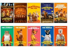 10 pcs/set Fantastic MR. Fox Movie Poster Souvenir Picture Card Sticker DIY Decoration Anti-Dust Bus ID Card Stickers 1219