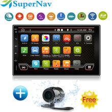 Quad Core Pure Android 2DIN Car Multimedia Player Car PC Tablet Double 2din PS Navigation Car Stereo Radio Bluetooth NO DVD(China)