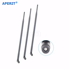 Aperit 3 pcs 9dBi RP-SMA Dual Band 2.4GHz 5GHz 5.8GHz WiFi antenna for Omni Directional Antennas Network Repeater