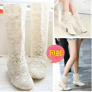 Boots cutout summer spring and autumn  boots fashion female net boots cool shoes single<br><br>Aliexpress