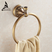 New Arrival Euro style Wal-mount Antique Bronze Towel Ring Classic Bathroom Accessories Bath Towel Holder Bath Hardware 3707F(China)
