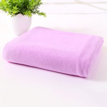 Solid Color Microfiber Fast Drying Gym Sports Soft Towel Travel Camp Long Towel