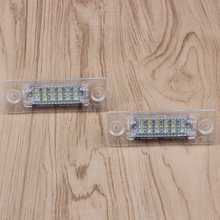1pair New 18 LED License Number Plate Light Lamp For VW T5 Caddy Golf Passat Touran Jetta Skoda Super White 12V(China)