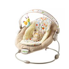 Free shipping Bright Starts Mental Baby Rocking Chair Infant Bouncers Baby Kids Recliner Vibration Swing Cradle With Music
