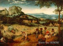 Canvas Paintings for living room Hay Harvest Pieter Bruegel the Elder High quality Hand painted