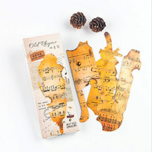 30pcs/box Cute Kawaii Old notes Bookmarks Paper Clip For Book Korean Funny Gift Office School Supply Stationery Free Shipping(China)