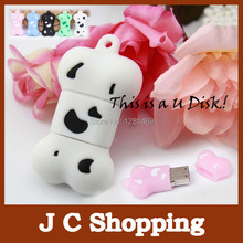 cartoon dog bone usb flash drive u disk 2G 4G 8G 16G 32G 64G usb Memory stick Real 16G pendrive pen drive free shipping(China)