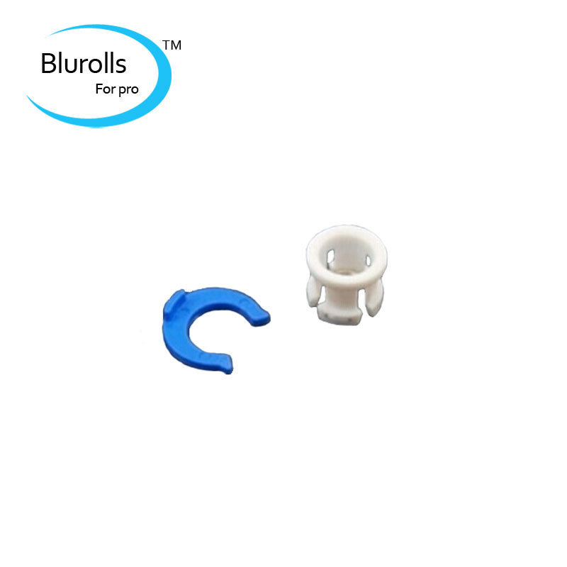 3d printer accessory ultimaker white bowden tube clamp  blue horse shoe clamp clip tube coupling collet free shipping 10 pieces<br><br>Aliexpress