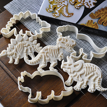 6 Pcs Cake Decoration Dinosaur Cookies Cutter Biscuit Moulds Set Baking Tools Molds