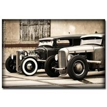 NICOLESHENTING Hot Rod Muscle Car Art Silk Fabric Poster Print Classic Car Pictures For Living Room Decor 024