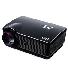 2017 Newest Uhappy Black Mini H3 LED Projector Home Theater 720P Proyector HDMI/USB/SD/ATV/AV/VGA 3000 Lumen LCD 3D Cinema