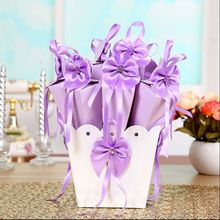 5 Sets Creative Wedding Favor Flower Pot Bowknot Ice Cream Cone Chocolates Candy Boxes Gift Boxes 4 Colors(China)