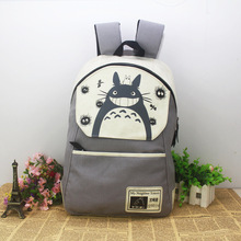 Anime My Neighbor Totoro backpack student cute cartoon school bags canvas travel backpacks birthday gift(China)