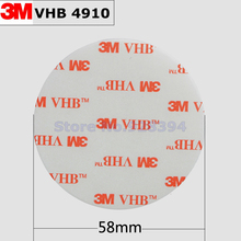 10pcs/lot 3M VHB 4910 Heavy Duty Double Sided Adhesive Acrylic Foam Tape Clear 58mmx1mm Round Free Shipping(China)