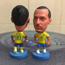 Soccerwe 2017 Season Nation 2.55 Inches Height Football Player Dolls Sweden 10 Zlantan Ibra Figure Yellow Kit Collections Gift(China)